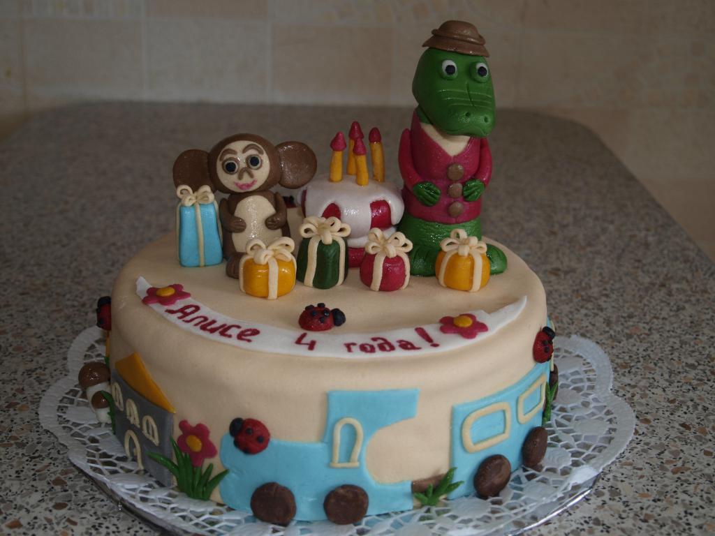 Детские торты фото чебурашка